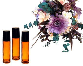 Natural Perfume Oil Wedding Favors - 20 (TWENTY) 10 ml Roll On Perfumes - Bridesmaid Gift - Bridal Shower Favors - Party Favors