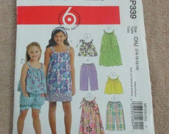 McCall's Pattern MP339, Children & Girls, sizes 7 to 14, Summer Wear - UNCUT