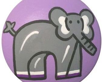 Purple Grey Elephant Knobs Animal Knobs KIDS Decorative Dresser Knobs Childrens Knobs Furniture Drawer Pulls Knobs Nursery Room Decor