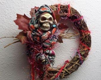 Dia de los Muertos,  Kitchen Witch, wall decor. Santa Muerte , Mexican tradition art doll