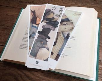 The Woodland Pack 1 - Illustrated set of 3 laminated Bookmarks