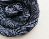 space grey / hand dyed yarn / fingering sock dk bulky yarn /super wash merino wool yarn/single or ply / choose your base / medium grey yarn