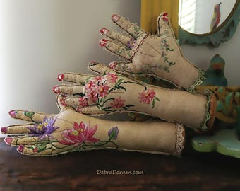 Spare Hand, Life Size, Hand Made Hand, Vintage Embroidery, Hand Crafted, Body Part, Handy, Home Decor, Eclectic Decor, Textile Art