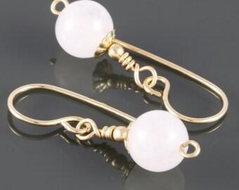 Snow Quartz Earrings. Gold Filled Ear Wires. White Quartz. Genuine Gemstone. f16e207