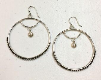 Hoop Earrings with Drop