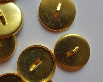 Vintage brass button settings