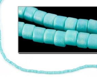 DBV878- 11/0 Matte Opaque Aqua Iris Delica Beads