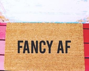 Fancy AF...Natural CoCo Coir Fiber Modern Tagged Outdoor Welcome Mat Custom doormat