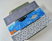 Fabric Bookmarks - Boys bookmarks - Kids Bookmark - Shark Bookmark - Book Lover Gift- Blue bookmark - Inexpensive Boys Gift - Reading Gift