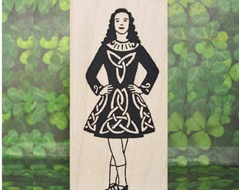 Traditional Irish Dancer Rubber Stamp #299