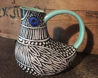 Sleek Modern Bird ewer vase