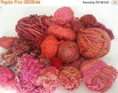 CLEARANCE - YARN - orange yarns, pink yarns, wool yarns,  great for scarves, trim, needle felting, 2 pounds