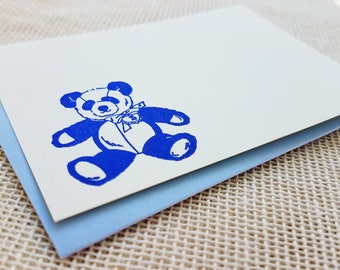 Letterpress Enclosure Card - Teddy Bear