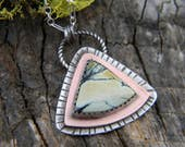 Beautiful New Lander Necklace - Mixed Metal copper and sterling silver - oxidized and rustic