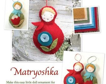 Matryoshka Doll Felt Ornaments Pattern and Instructions to Make