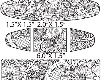 Etching Pattern for Paisley Cuff, Earrings, Ring Digital Download -DP-FN-1