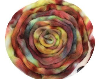 Icelandic Wool Top Hand Dyed 100g 3.5oz  IC7