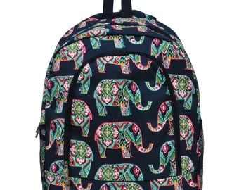 Paisley Elephant Backpack - Personalized Backpack - Monogrammed Backpack - Girl Backpack - Diaper Bag Backpack - Includes Embroidery