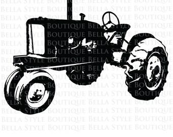 Vintage Tractor svg cut file