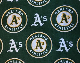Baby Boy or Girl Burp Cloth Made with Oakland A's Athletics Baseball MLB fabric Boy Girl