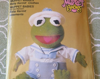 Vintage Vogue 9178 Jim Hensons Muppet Babies Baby Kermit Clothes Sewing Pattern