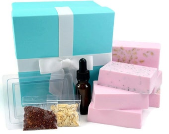 Soap Making Kit, Make Your Own Melt and Pour Soap Kit for Beginners, Makes 6 Bars