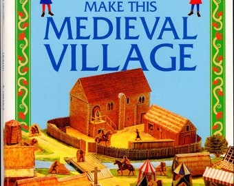 Medieval Village Paper Cut Model Kit Craft Supplies Cutting & Scissors Softcover Book Usborne Publ English Heritage Medieval Village Kit