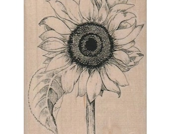 rubber stamp Sunflower flower  stamps  scrapbooking supplies no 1170  1107 large or small size garden flowers