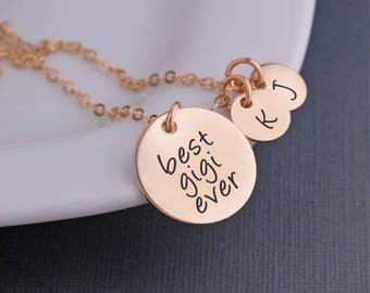 Gigi Jewelry,  Christmas Gift for Gigi, Custom Necklace for Gigi, Personalized Gold Necklace for Gigi with Charms