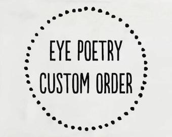 Custom Wholesale Order - Sarah
