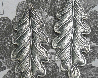Two quality sterling silver plated leaf stampings for great shimmery designs..