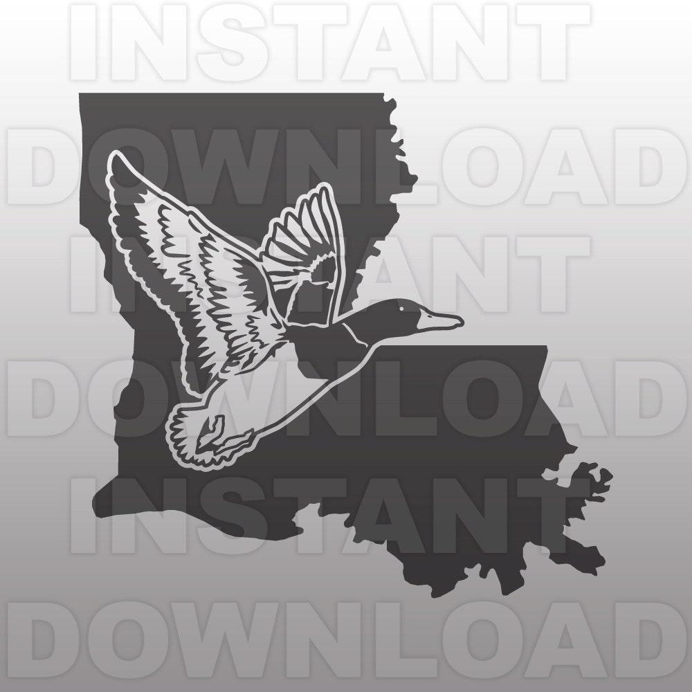 Duck Hunting Louisiana Svg Filemallard Svg Filedrake Svg