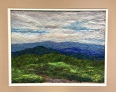 RESERVED for Deb - No.788 Blue mountains - Needlefelt art