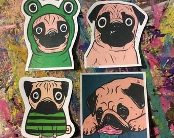 Pug Dog Sticker Pack
