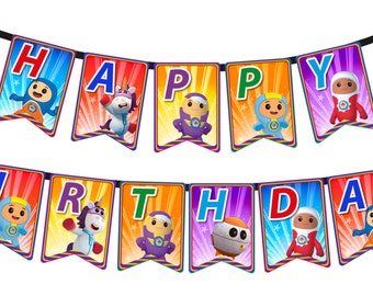 Go Jetters - Digital Happy Birthday Flag Banner