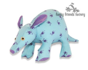Aardvark Plush Toy Pattern PDF INSTANT DOWNLOAD