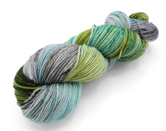Thunderboom Watercolor Stripes-- Dyed to Order Self Striping Hand Dyed Targhee Sock Yarn