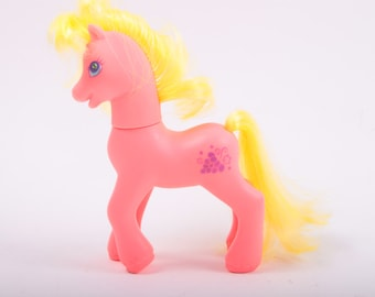 My Little Pony, Berrybright, Vintage, G2, Hot Orange Pony with Yellow Hair and Grape Symbol ~ The Pink Room ~ 161121