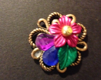 Magnetic Brooch, Brightly-Colored