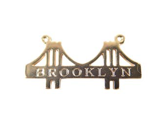 Rose Gold Plated Brooklyn Bridge Charms - with word (2X) (K614-D)