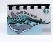 "Starbucks ""You Are One In A Million"" upCycled Gift Card Notebook"