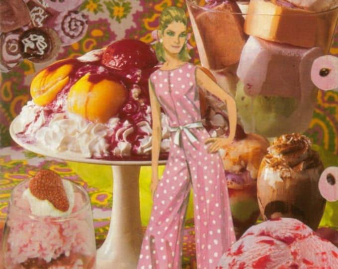 Sweet Treat Dessert Art Collage, Yummy Food Artwork