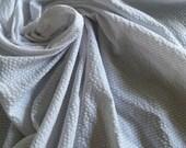 White on White seersucker fabric Cotton Polyester Fabric fresh Lightweight very wide Robert Kaufman pinstripe