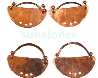 Reserve for Teri -Handmade Rustic Copper Earring Components