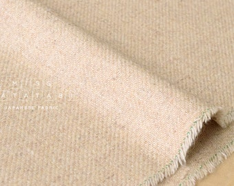 Japanese Fabric Wool Twill - oatmeal - 50cm