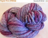 Sale 25% OFF Handpainted Yarn Wool EGGPLANT 210yds 3.5oz Worsted Weight Hand Painted Aspenmoonarts