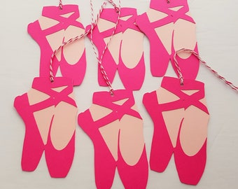 Ballet Shoes Tags, Ballet Favor Tags, Ballet Shoe Gift Tags, READY TO SHIP