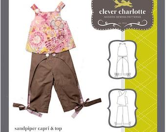 Clever Charlotte PATTERN - Sandpiper Capri & Top - Sizes 2T-8