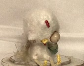 Chuck the sad zombie chicken Ooak   art doll