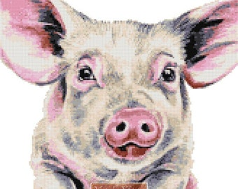 Pig counted cross stitch kit